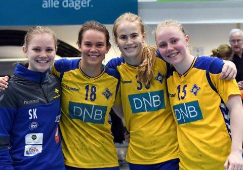 RØK KORSBÅNDET: Rikke Kyvåg, Selma Kyvåg, Hedda Fjell og Thea Svenningsen Grindalen har alle gjort comeback etter å ha røket korsbåndet.