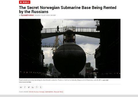 ANALYSE: Denne uka publiserte amerikanske Newsweek en lang artikkel om Olavsvern skjebne. Foto: Skjermdump Newsweek