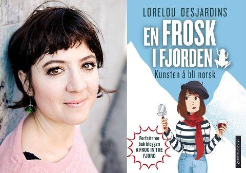 SKREV BOK: Lorelou Desjardins begynte å skrive blogg for å dele opplevelsene av å være franskmann i Norge. Det har blitt til bok - med nye tekster. Foto: Cappelen Damm