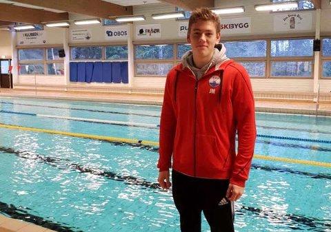 SOLID: Jacob Meilvåg slettet to av Ski svømmeklubbs klubbrekorder under NM i helgen.