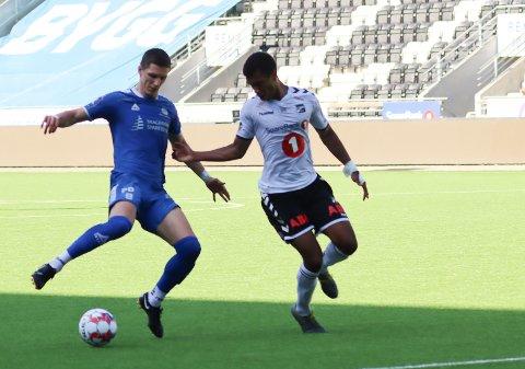 Granit Shala scoret nok et mål da Pors spilte  2-2 mot Odd tirsdag. Han har scoret fem på tre treningskamper etter gjenåpningen.