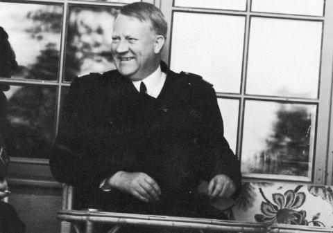 Oslo 19420718 Vidkun Quisling fotografert på sin 55-årsdag. Den ble feiret på Gimle med mange gjester.  Foto; Aage Kihle / NTB scanpix