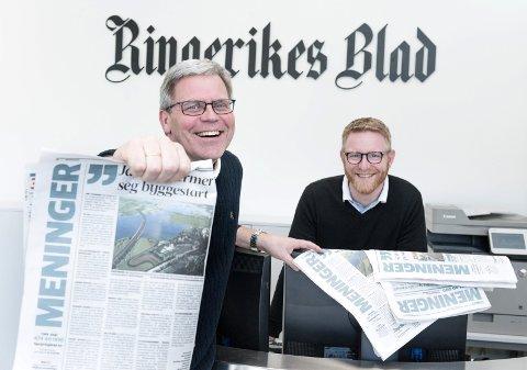 NY UTFORDRING: Øyvind Lien blir debattleder i avisen, og ansvarlig redaktør Bjørn Harald Blaker sier at avisen skal være en felles arena for lokal debatt.
