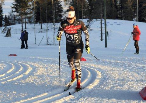 AVLYST: Vera Flatland har mest sannsynlig gått sitt siste norgescuprenn som junior ettersom juniorenes norgescup i vinter er avlyst.