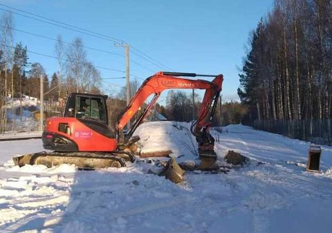 FUNNET:  Etter tre måneder ble den stjålne gravemaskinen fra Kongsvinger gjenfunnet.