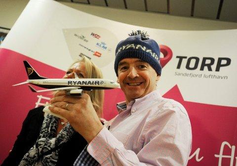 KOMPENSASJON: Ryanair-sjef Michael O'Leary lover at det ikke blir flere kanselleringer som følge av pilotmangel. Reisende som har blitt rammet vil motta informasjon om sin reise på epost. Arkivfoto: Per Gilding