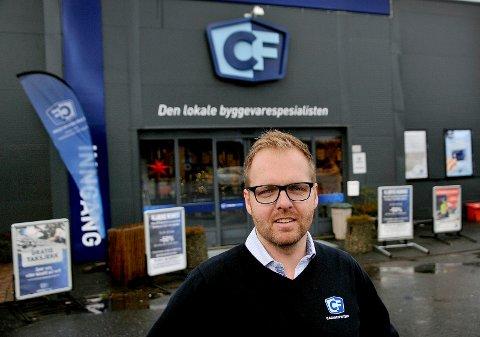 VAREHUSSJEF: Morgan Bjerk har fått jobben som varehussjef for CarlsenFritzøe på Tunejordet.