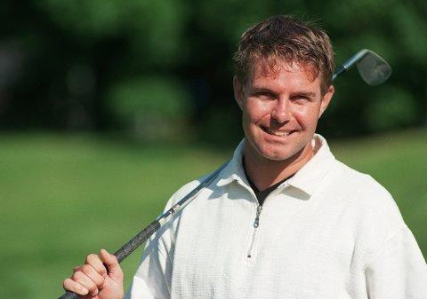 Per Haugsrud skal i ilden mot Mark O'Meara på Bogstad golfbane den 21. september. 41341 (Foto Per Løchen, NTB Pluss)