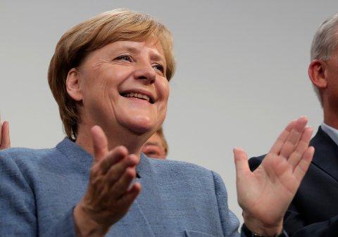 Angela Merkel kan fortsette som forbundskansler i Tyskland.