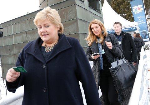 Tidligere statssekretær og stabssjef med SMK Julie Brodtkorb var aldri langt unna Erna Solberg.
