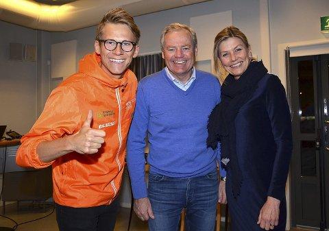 OPTIMISTER: Svend Sondre Frøshaug (f.v.), Per Bergerud og Grethe Skjelbred har alle tro på at orienterings-VM i Spydeberg skal bli suverent for alle og «tidenes beste».
