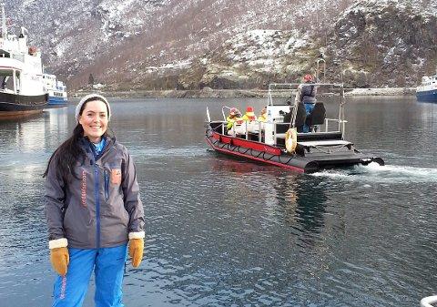OFFENSIV: - Det er tøft, men me må sjå framover, seier May Lene Steinheim Lunden, dagleg leiar i Fjordsafari Norway.