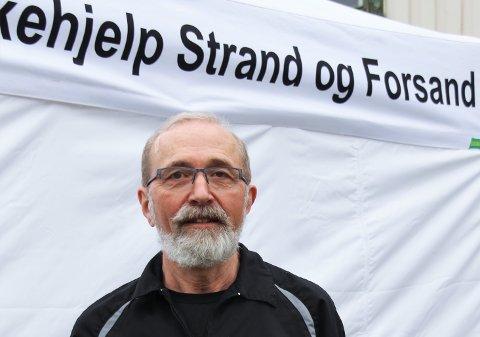 LUFTVEISLEGEVAKT: – Det er et forebyggende tiltak som vi ikke slutter av selv om pasientantallet ikke er veldig høyt, seier lege Lars Johan Tveit.