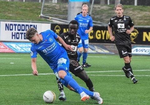 CUP: NFK møter Bærum borte i cupens andre runde. Her Erlend Hustad i godt driv i et oppgjør i fjor.