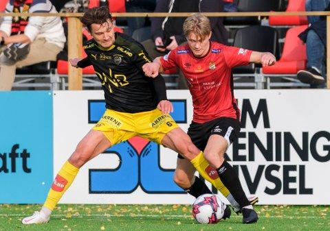 Ole Kristian Rødahl (til høyre) og Stjørdals-Blink gjør det godt i 1. divisjon.