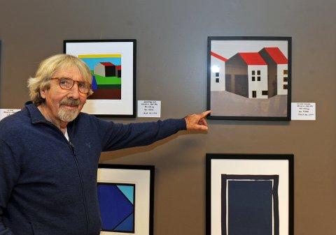 Sinte hus. Artist og kunstner Helge A. Carlsen liker å gi bildene sine navn.