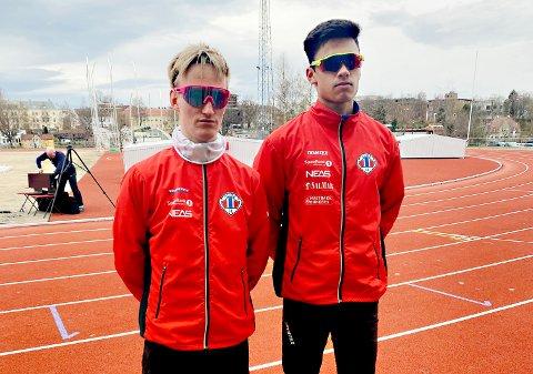 Mathias Lillehagen (til venstre) og Kristoffer Sagli er i gang med sesongen.