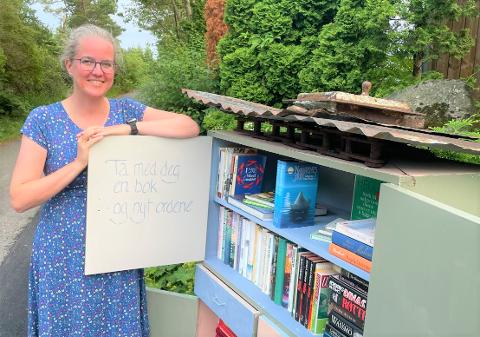 Her står forfatter Victoria Bø med sitt kreative bidrag. - Jeg ønsker å skape leseglede!