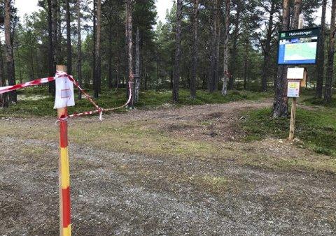 RASERT: Kari Osmoen er oppgitt over hærverket som ble gjort natt til lørdag.