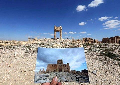 KULTURMINNER GÅR TAPT: I Syria har viktige deler av verdensarvstedet Palmyra gått tapt som følge av borgerkrigstilstandene.