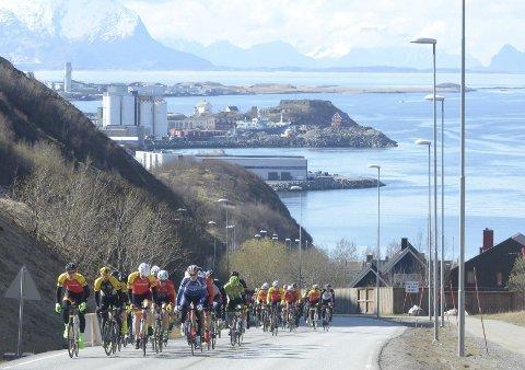 Sykkelby: Bodø havner langy nede på listen over de beste sykkelbyene.