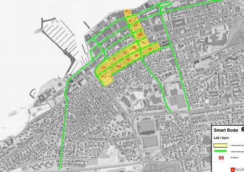 De som bor innenfor dette området og disse gatene skal teste smartløsninger, hvis bystyret er enig med rådmannen.