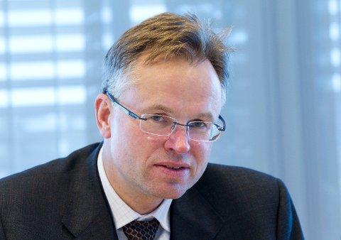 Administrerende direktør i Visma Øystein Moan har hatt ubudne gjester på besøk.  Foto: Morten Holm (NTB scanpix)