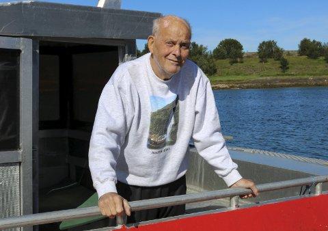 SKIPPER: Torleif Benjaminsen (74) begynte som skipper i et firma han grunnla sammen med faren.