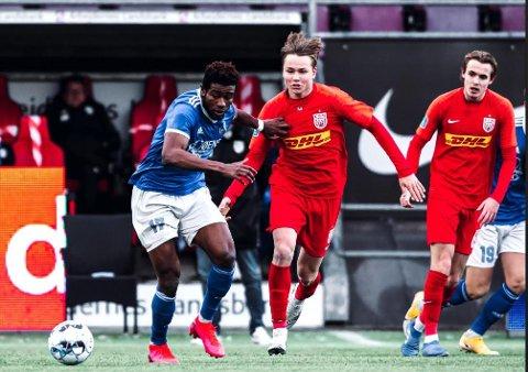 Andreas Schjelderup (16) fra Bodø debuterer i Superligaen. Foto: Noah Thilemann
