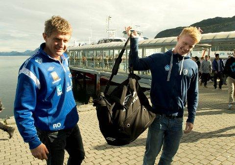 Lars Arne Nilsen har funnet Branns nye midtbanespiller i sønnen Sivert Heltne Nilsen. Her fra tiden da far og sønn var sammen i Hødd.