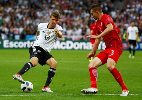 Thomas Müller scoret ni mål i EM-kvaliken for Tyskland, men har foreløpig ikke funnet nettmaskene under selve mesterskapet i Frankrike.