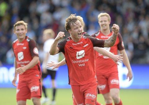 Fredrik Haugen har vist seg å være mer enn en håndfull for Odd-forsvaret.