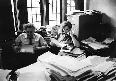 Stein Rokkan og Frank Aarebrot på Yale i 1969 der Aarebrot var Fellow for Rokkan