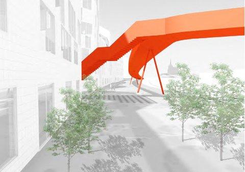 En gang- og sykkelbru fra Papirbredden til Nybyen vil bli en ruvende og kostbar løsning.
