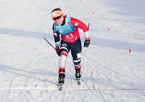 Beitostølen: Helene Marie Fossesholm etter 10 km kvinner søndag.