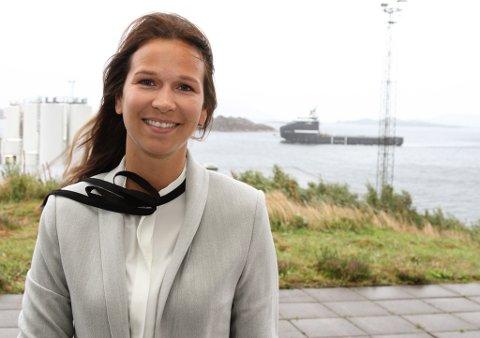 Marita Jarstad (32) i INC Invest er prosjektleiar for Oliven-prosjektet som skal legge til rette for hydrogen-produksjon på Fjord Base.