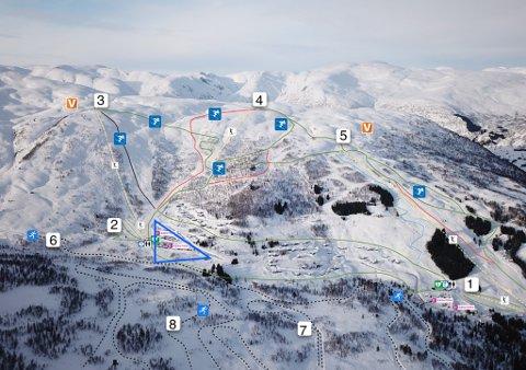 SENTRUM: Sogndal Fjelllandsby skal ligge i den blå trekanten.