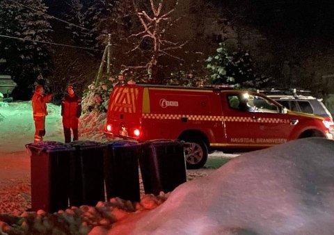 BRANN: Alle naudetatar rykte ut til brannen i Naustdal fredag 5. februar.