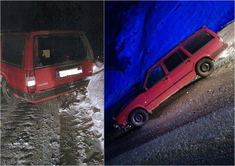 SNURRET: Bilen snurret rundt og traff autovernet på begge sider.