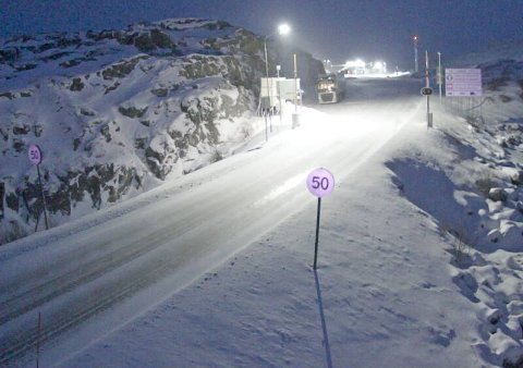 Skjermdump av Statens vegvesen webkamera ved Riksgränsen.