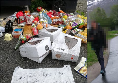 TRUENDE: Mannen skal ha hatt en truende tone etter at han hadde rotet til søppelet.