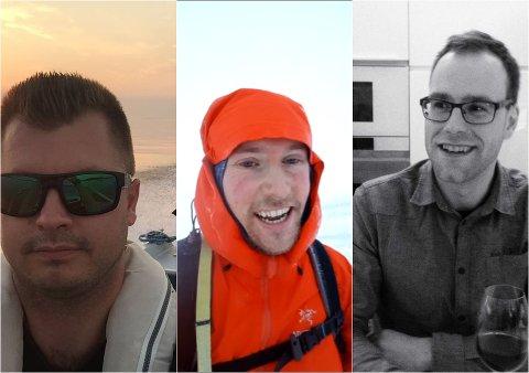 TRE AV DE OMKOMNE: Fra venstre: André Stenfors, Mikael Sten og Niklas Nyman.
