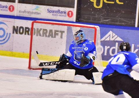Her scorer Lillehammer med en mann mindre på isen. Narvik kom seg aldri etter det baklengsmålet.