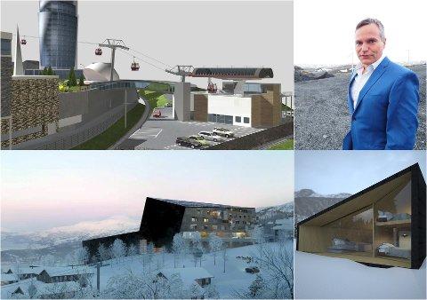 FLERE PLANER: Narvikfjellet har flere planer. Styreleder Eirik Frantzen sier at de ikke har gitt dem opp. Foto/Montasje: Fremover/Arkiv