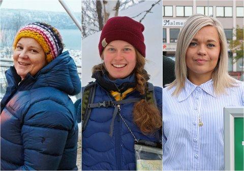 TRE OM FREMTIDEN: Marianne Kuraas i Narvik Adventures AS, Anna Nystedt i Narvik Aktiv og Lise Janita Hansen i Visit Narvik.