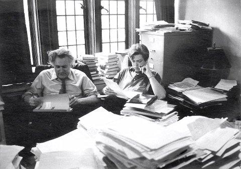 PÅ YALE: Stein Rokkan og Frank Aarebrot på Yale i 1969 der Aarebrot var Fellow for Rokkan