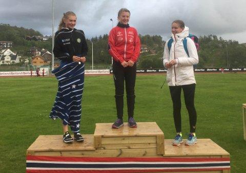 Helen Solheim Volden ble kretsmester på 400 meter og lengde.