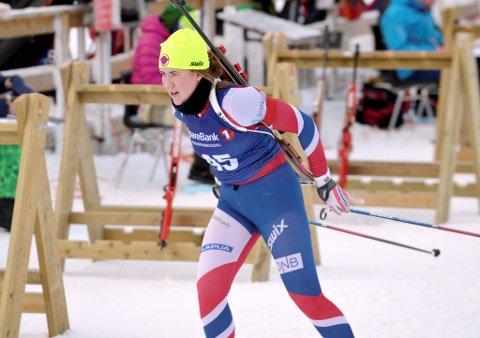Mathea Tofte har som målsetting å ta en NM-medalje under junior-NM i Holmekollen.