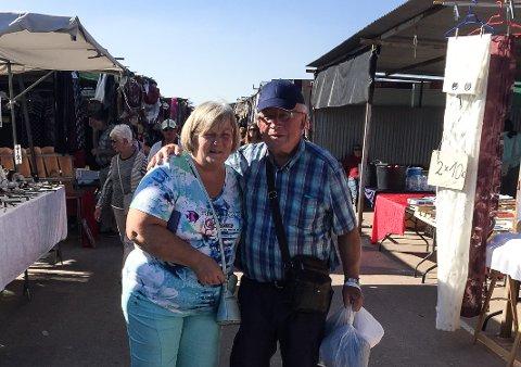 SLAPP MED SKREKKEN: Birger Dahl og Maj-Britt Brorson Dahl ble ranet utenfor flyplasseni Alicante.
