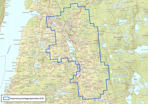 Kartlegges: Dette området skal kartlegges i 2019.